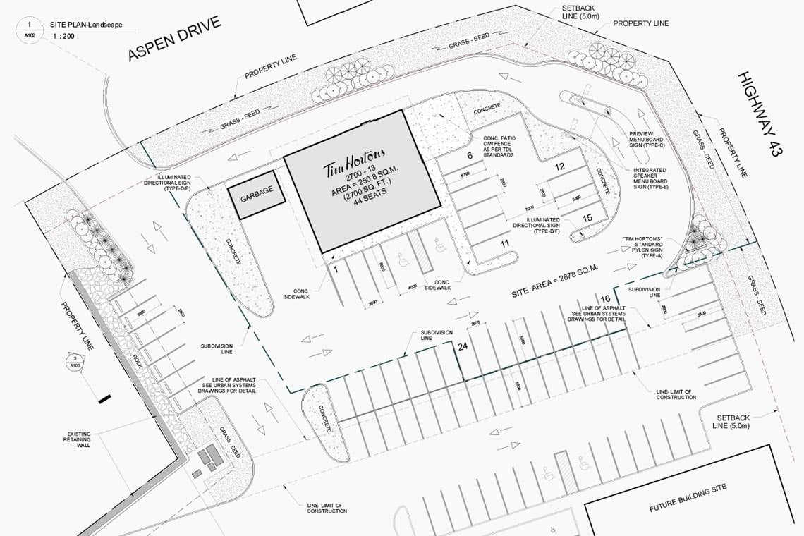 crown-properties-tim-hortons-sparwood-site-plan